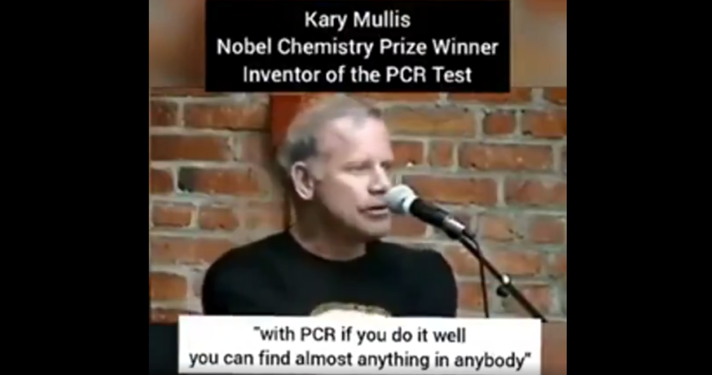 Inventor Of PCR Test: Kary Mullis «It doesn't tell you you're sick».